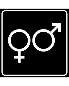 WC Toiletten Kennzeichnung | Symbol Herren · Damen · schwarz