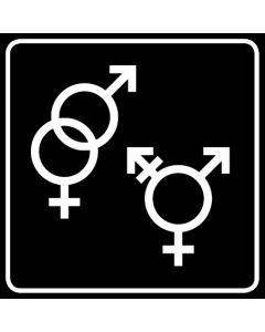 WC Toiletten Kennzeichnung | Symbol Herren · Damen · Transgender · schwarz