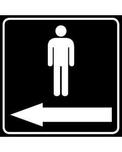 WC Toiletten Kennzeichnung | Piktogramm Herren Pfeil links · schwarz