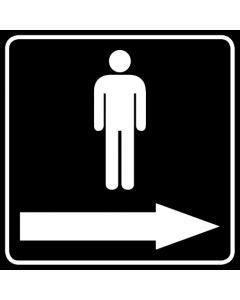 WC Toiletten Kennzeichnung | Piktogramm Herren Pfeil rechts · schwarz