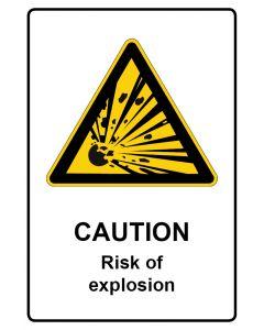 Warnzeichen mit Text · Aufkleber | Schild | Magnetschild · Caution · Risk of explosion