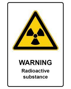Warnzeichen mit Text · Aufkleber | Schild | Magnetschild · Warning · Radioactive substance