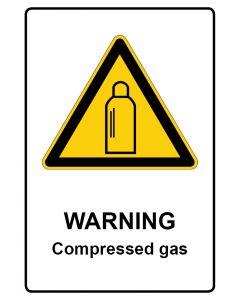 Warnzeichen mit Text · Aufkleber | Schild | Magnetschild · Warning · Compressed gas