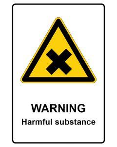 Warnzeichen mit Text · Aufkleber | Schild | Magnetschild · Warning · Harmful substance