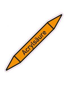 Rohrleitungskennzeichnung Acrylsäure · Aufkleber | Schild · Rohrkennzeichnung