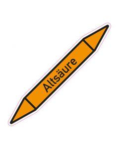 Rohrleitungskennzeichnung Altsäure · Aufkleber | Schild · Rohrkennzeichnung