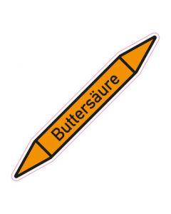 Rohrleitungskennzeichnung Buttersäure · Aufkleber | Schild · Rohrkennzeichnung