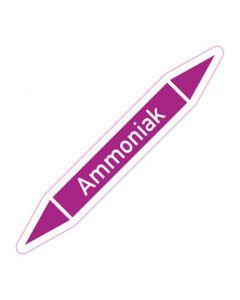 Rohrleitungskennzeichnung Ammoniak · Aufkleber | Schild · Rohrkennzeichnung