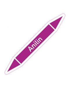 Rohrleitungskennzeichnung Anilin · Aufkleber | Schild · Rohrkennzeichnung