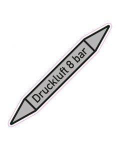 Rohrleitungskennzeichnung Druckluft 8 bar · Aufkleber | Schild · Rohrkennzeichnung