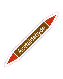 Rohrleitungskennzeichnung Acetaldehyde · Aufkleber | Schild · Rohrkennzeichnung