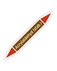 Rohrleitungskennzeichnung Acrylaldehyd (stab.) · Aufkleber | Schild · Rohrkennzeichnung