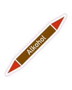 Rohrleitungskennzeichnung Alkohol · Aufkleber | Schild · Rohrkennzeichnung
