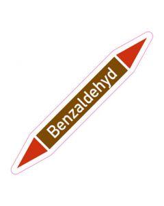 Rohrleitungskennzeichnung Benzaldehyd · Aufkleber | Schild · Rohrkennzeichnung