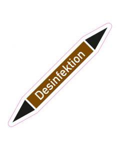 Rohrleitungskennzeichnung Desinfektion · Aufkleber | Schild · Rohrkennzeichnung