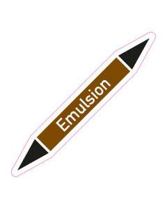 Rohrleitungskennzeichnung Emulsion · Aufkleber | Schild · Rohrkennzeichnung