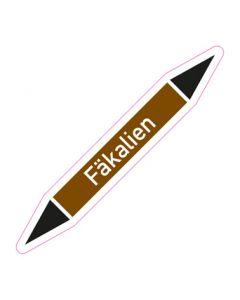 Rohrleitungskennzeichnung Fäkalien · Aufkleber | Schild · Rohrkennzeichnung