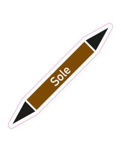 Rohrleitungskennzeichnung Sole · Aufkleber | Schild · Rohrkennzeichnung