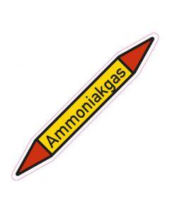 Rohrleitungskennzeichnung Ammoniakgas · Aufkleber | Schild · Rohrkennzeichnung