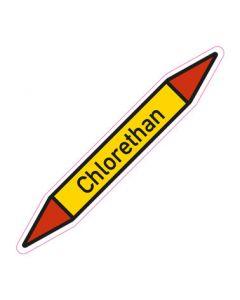 Rohrleitungskennzeichnung Chlorethan · Aufkleber | Schild · Rohrkennzeichnung
