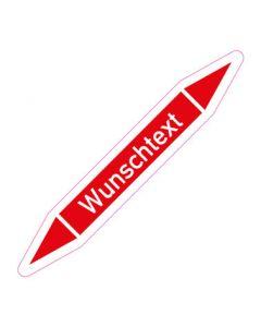 Rohrleitungskennzeichnung Wunschtext · Aufkleber | Schild · Rohrkennzeichnung