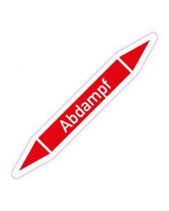 Rohrleitungskennzeichnung Abdampf · Aufkleber | Schild · Rohrkennzeichnung