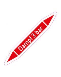 Rohrleitungskennzeichnung Dampf 3 bar · Aufkleber | Schild · Rohrkennzeichnung