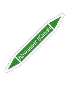 Rohrleitungskennzeichnung Abwasser (Kanal) · Aufkleber | Schild · Rohrkennzeichnung