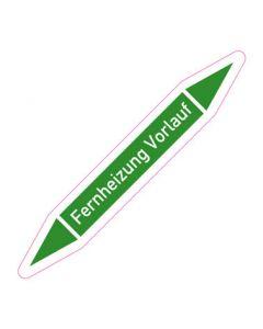 Rohrleitungskennzeichnung Fernheizung Vorlauf · Aufkleber | Schild · Rohrkennzeichnung