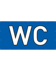 PVC Plane WC | blau