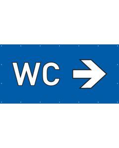 PVC Plane WC rechts | blau