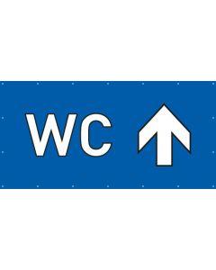 PVC Plane WC geradeaus | blau
