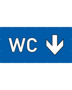 PVC Plane WC hier | blau