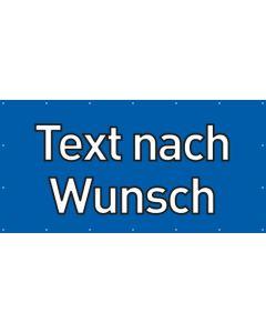 PVC Plane Wunschtext | blau