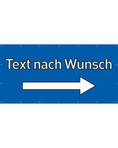 PVC Plane Wunschtext rechts | blau