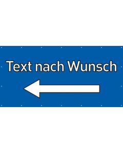 PVC Plane Wunschtext links | blau