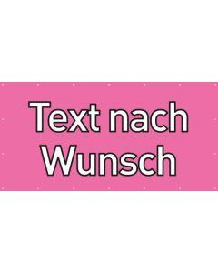 PVC Plane Wunschtext | rosa