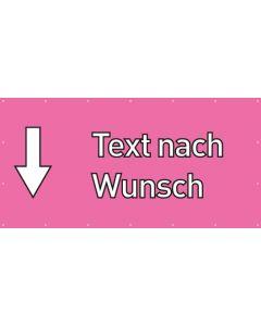 PVC Plane Wunschtext hier | rosa