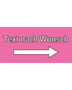PVC Plane Wunschtext rechts | rosa