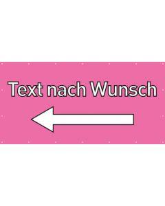 PVC Plane Wunschtext links | rosa