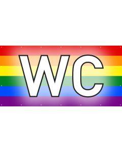 PVC Plane WC | regenbogenfarben