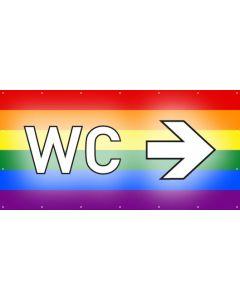 PVC Plane WC rechts | regenbogenfarben