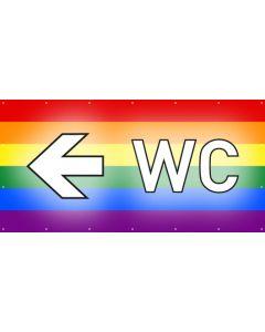 PVC Plane WC links | regenbogenfarben