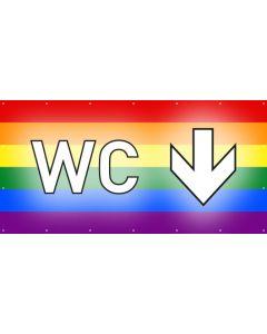 PVC Plane WC hier | regenbogenfarben