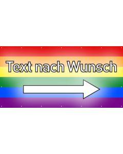 PVC Plane Wunschtext rechts | regenbogenfarben