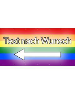 PVC Plane Wunschtext links | regenbogenfarben