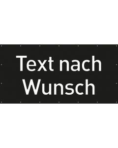 PVC Plane Wunschtext | schwarz