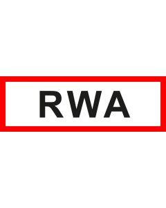Feuerwehrzeichen RWA · Aufkleber | Schild | Magnetschild