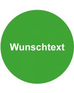 QS Zeichen Wunschtext · grün | Aufkleber · Magnetschild · Aluminiumschild