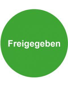 QS Zeichen Freigegeben · grün | Aufkleber · Magnetschild · Aluminiumschild
